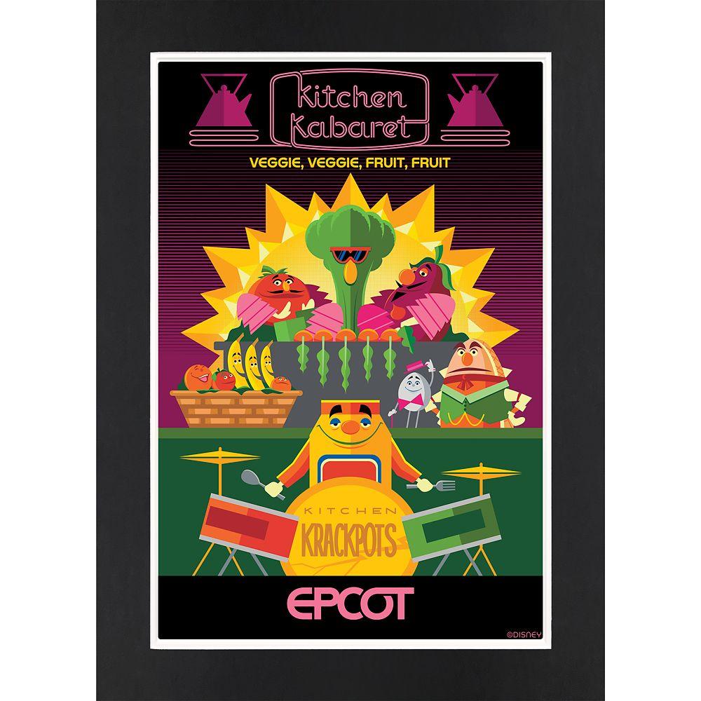 EPCOT Kitchen Kabaret Matted Print
