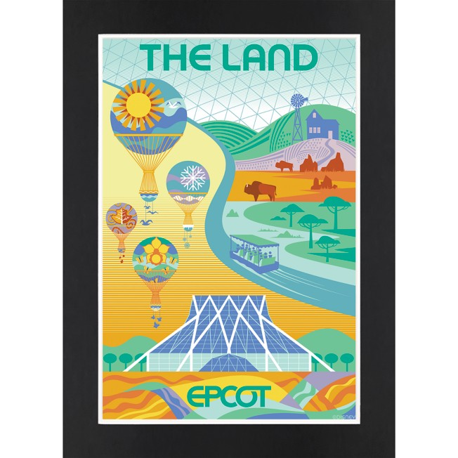 EPCOT The Land Matted Print