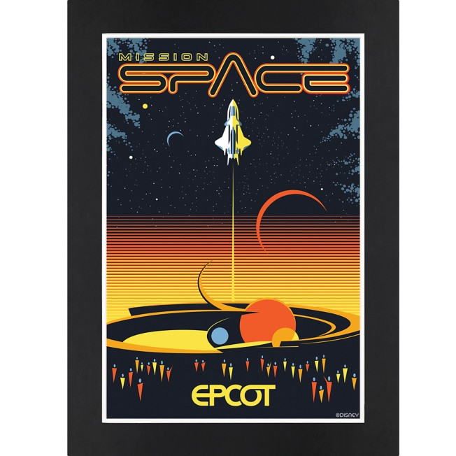 EPCOT Mission: SPACE Matted Print