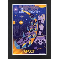 EPCOT Guardians of the Galaxy Cosmic Rewind Matted Print