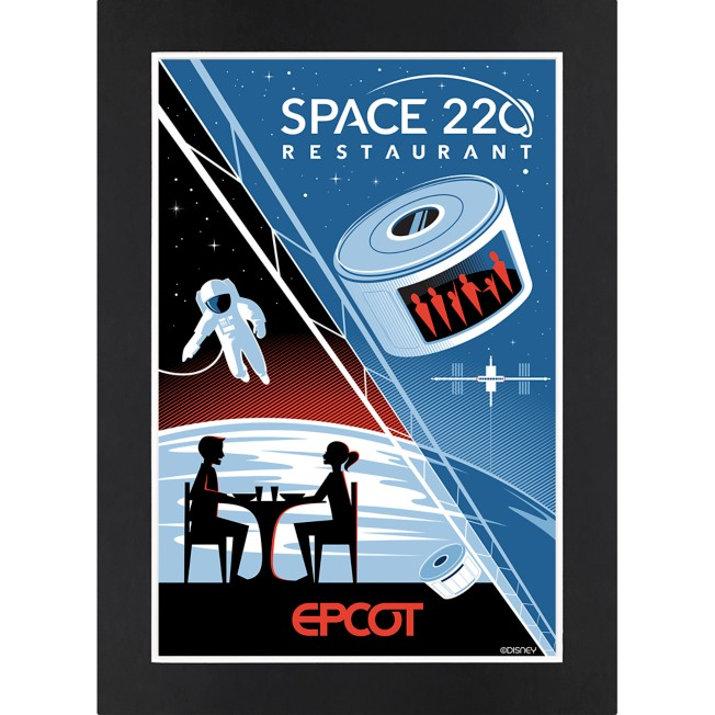EPCOT Space 220 Restaurant Matted Print