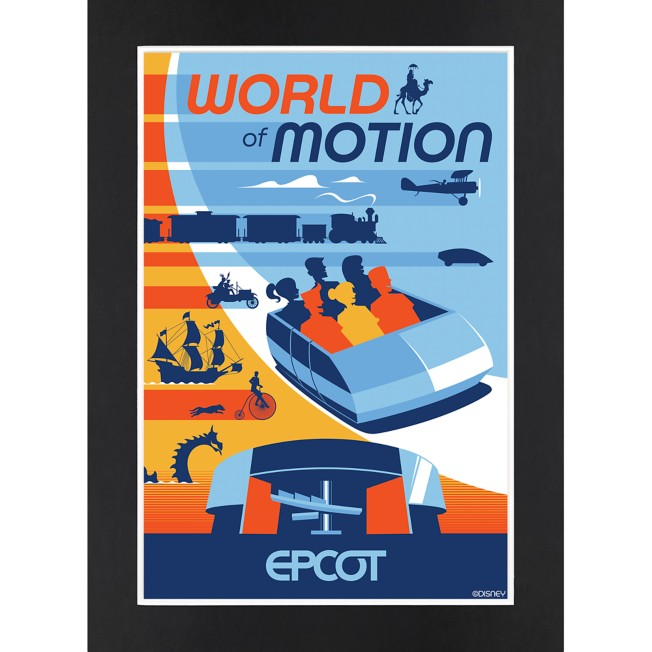 EPCOT World of Motion Matted Print