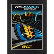 EPCOT Test Track Matted Print