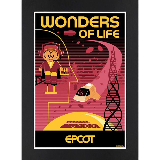 EPCOT Wonders of Life Matted Print