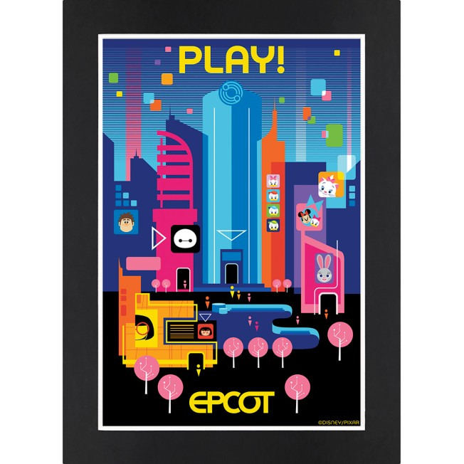 EPCOT Play! Matted Print