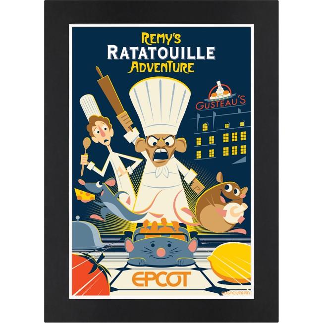 EPCOT Remy's Ratatouille Adventure Matted Print