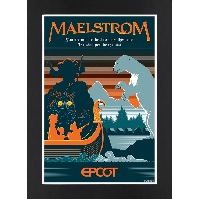 EPCOT Maelstrom Matted Print