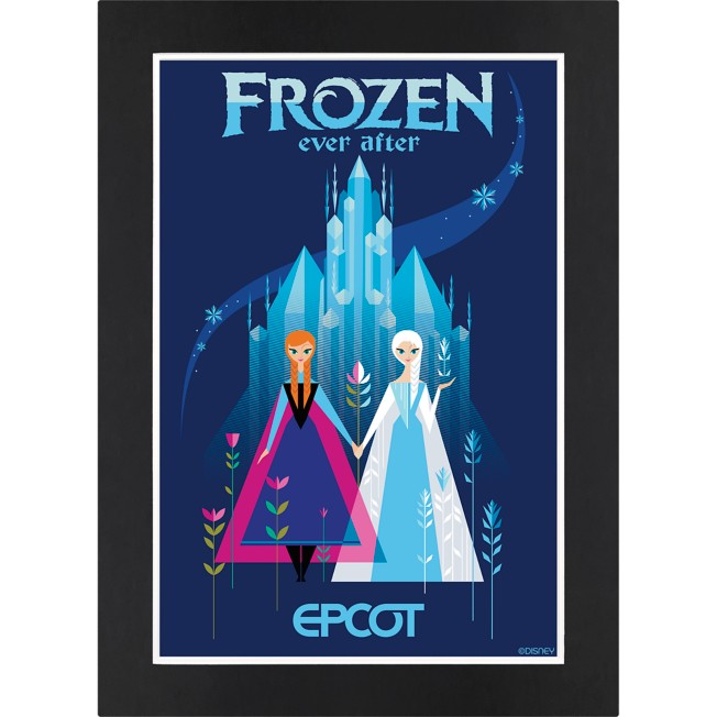 EPCOT Frozen Ever After Matted Print