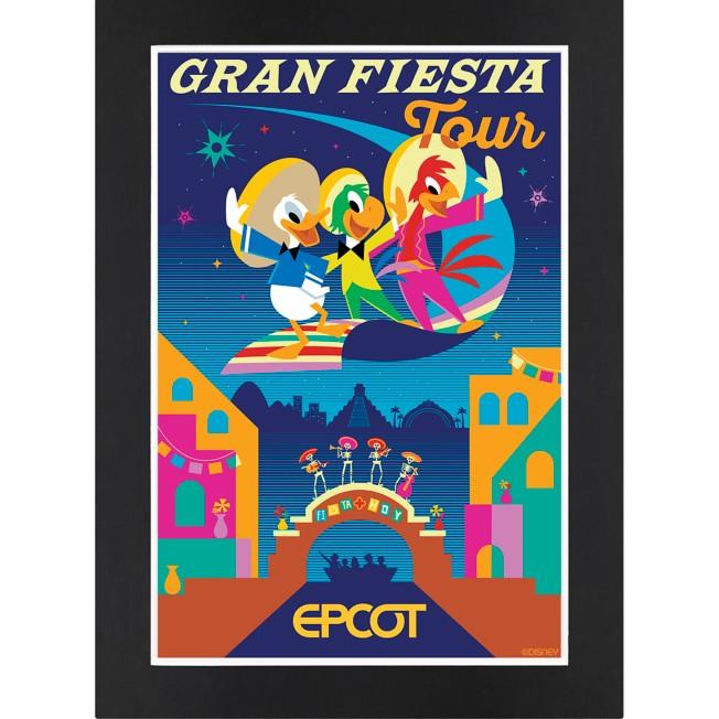 EPCOT Gran Fiesta Tour Matted Print