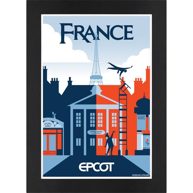 EPCOT France Pavilion Matted Print