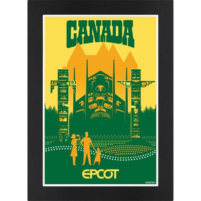 EPCOT Canada Pavilion Matted Print