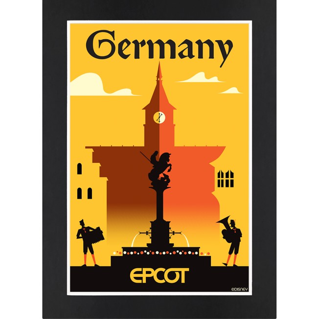 EPCOT Germany Pavilion Matted Print