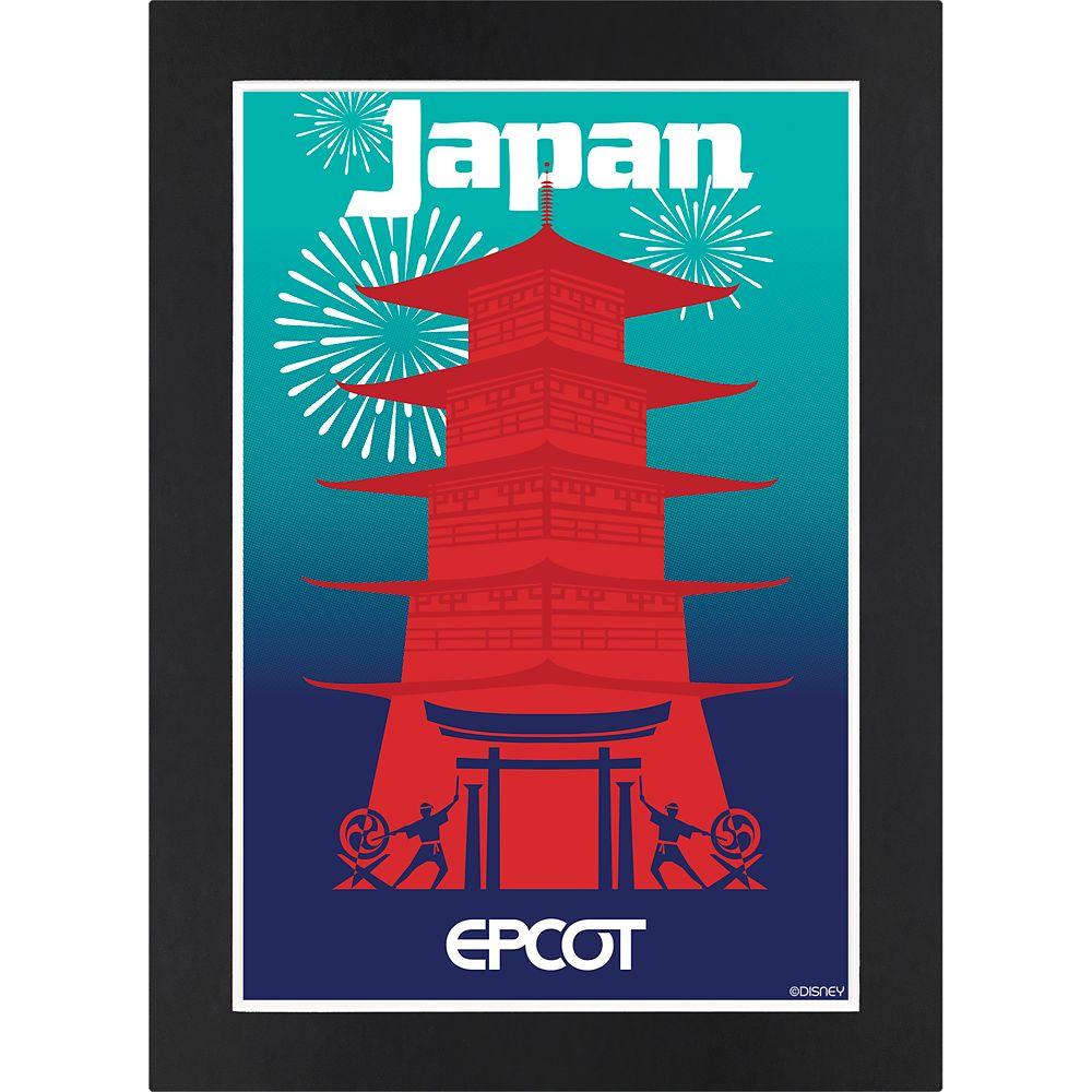 Disney EPCOT Japan Pavilion Matted Print