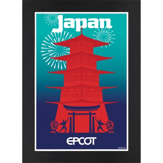 EPCOT Japan Pavilion Matted Print