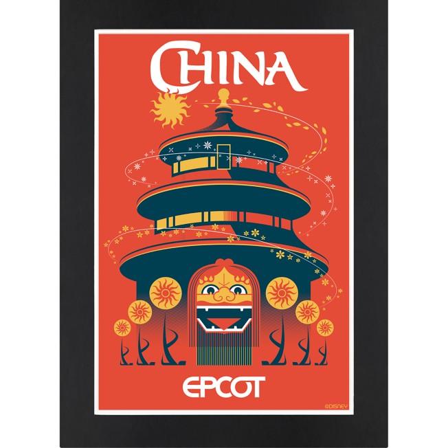 EPCOT China Pavilion Matted Print