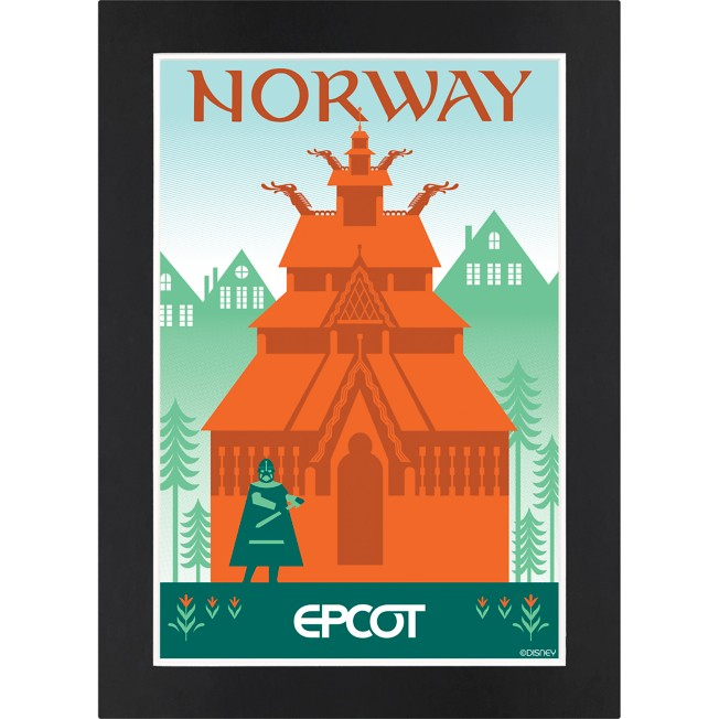 EPCOT Norway Pavilion Matted Print