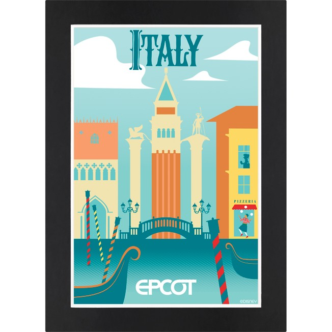 EPCOT Italy Pavilion Matted Print