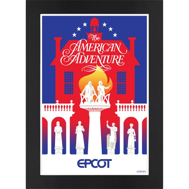 EPCOT The American Adventure Pavilion Matted Print