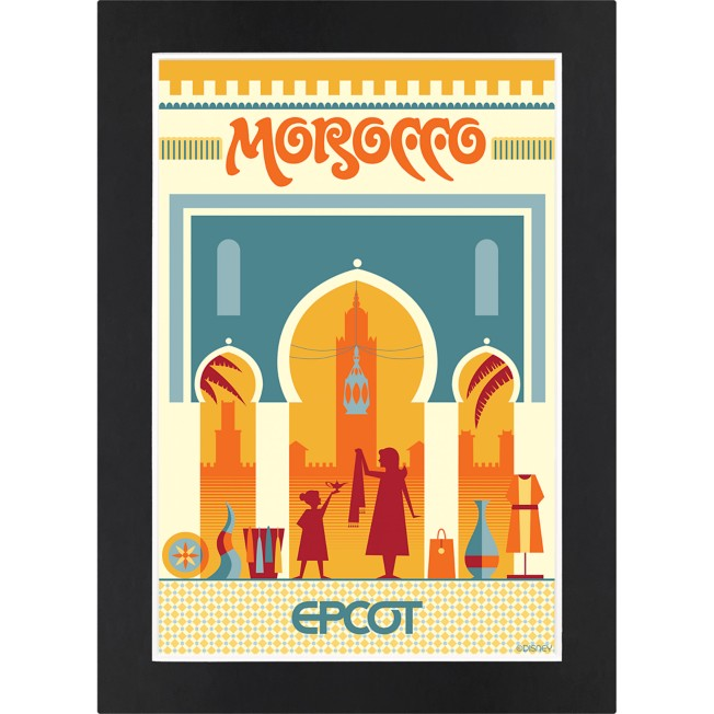 EPCOT Morocco Pavilion Matted Print