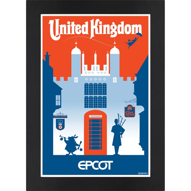 EPCOT United Kingdom Pavilion Matted Print