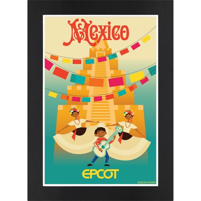EPCOT Mexico Pavilion Matted Print