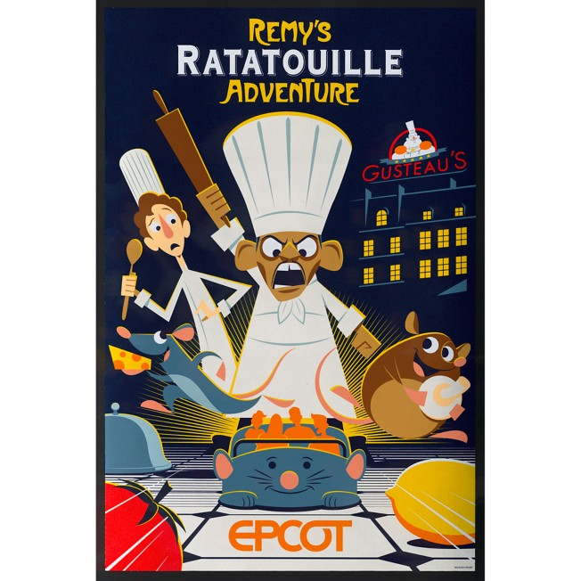 EPCOT Remy's Ratatouille Adventure Poster – Limited Release