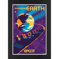 EPCOT Spaceship Earth Matted Print