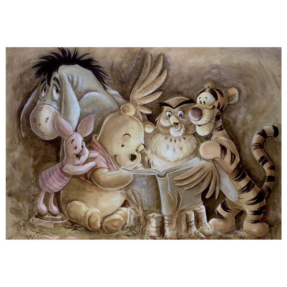 Winnie the Pooh ''Pooh and Company'' Giclée by Darren Wilson Official shopDisney