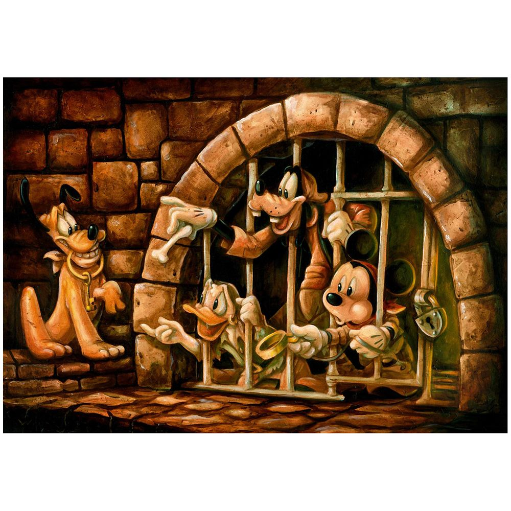 Mickey Mouse Pirates of the Caribbean ''Here Poochie'' Giclée by Darren Wilson Official shopDisney