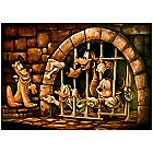 Mickey Mouse Pirates of the Caribbean ''Here Poochie'' Giclée