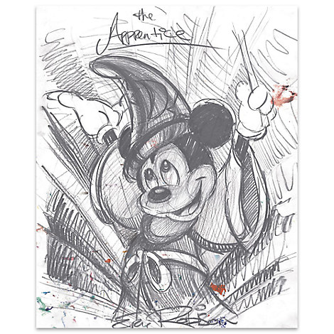 Mickey Mouse ''The Apprentice''	Giclée by Eric Robison