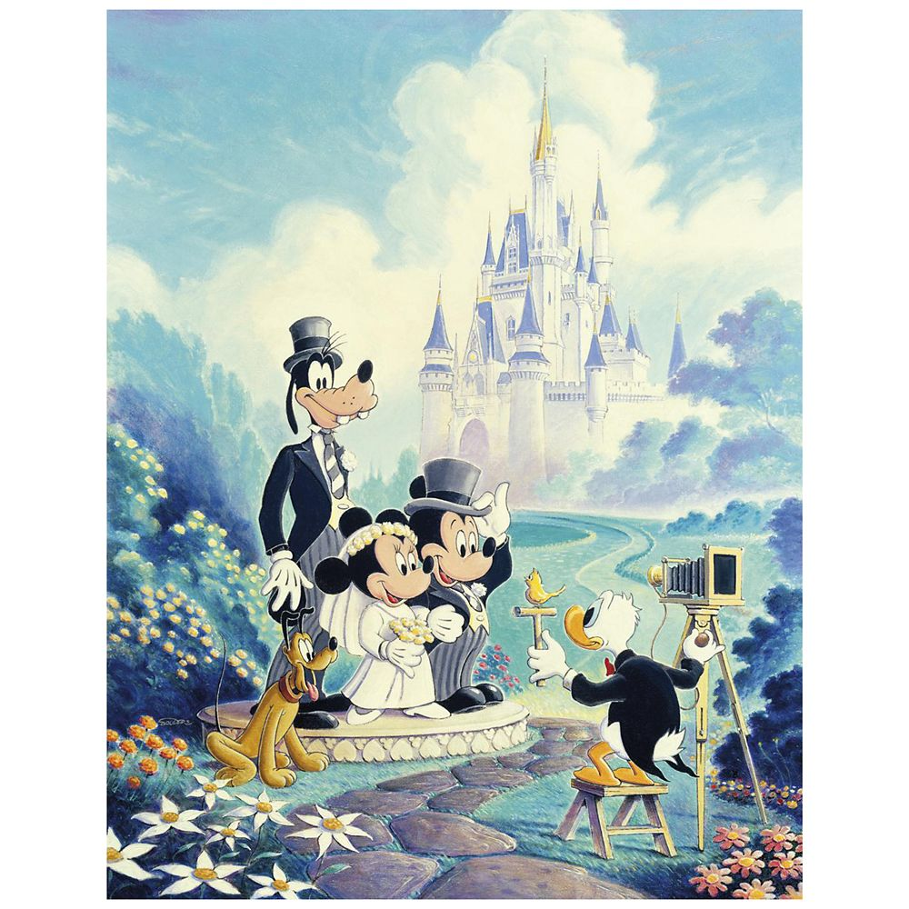 ''Mickey and Minnie Wedding'' Giclée by Randy Souders Official shopDisney