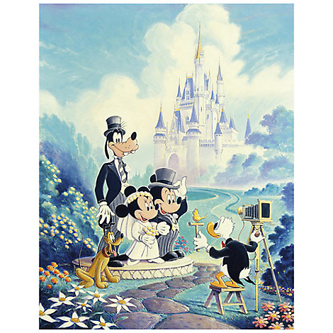 ''Mickey and Minnie Wedding'' Giclée by Randy Souders