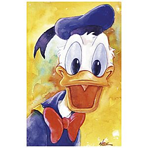 ''Donald Duck Quacks'' Giclée by Randy Noble