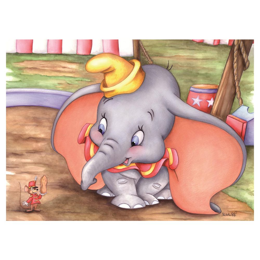 ''Dumbo at the Circus'' Giclée by Michelle St.Laurent Official shopDisney