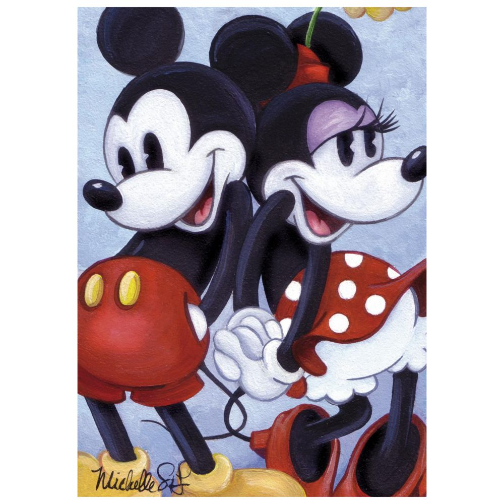 ''Mickey and Minnie Back to Back'' Giclée by Michelle St.Laurent