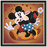 ''Mickey and Minnie Kissing'' Giclée by Michelle St.Laurent