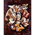 Mickey Mouse and Friends ''Super Gang'' Giclée by Darren Wilson
