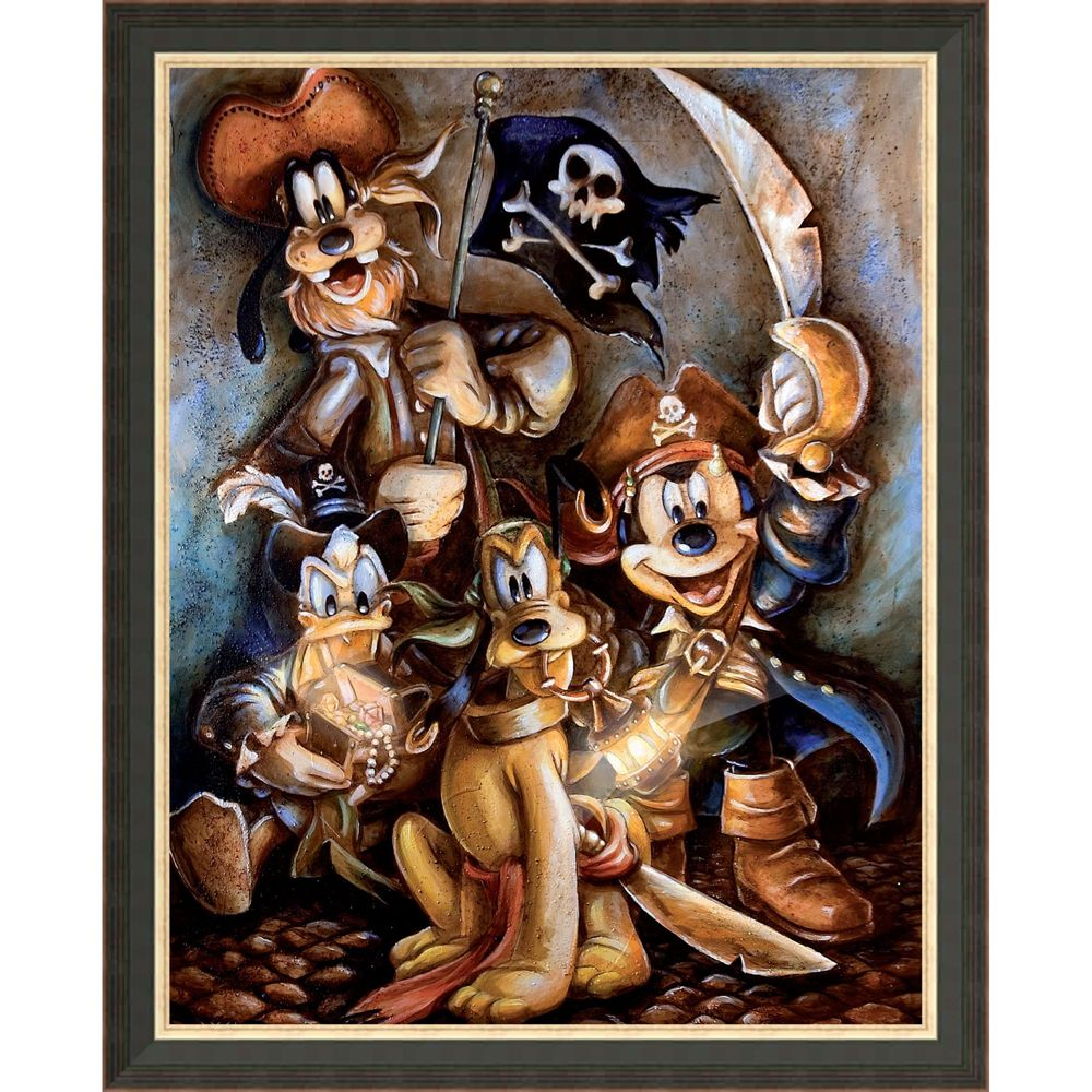 Mickey Mouse and Friends ''Motley Crew'' Giclée by Darren Wilson
