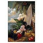 Mickey Mouse ''Sundown Surfer Mickey Mouse'' Giclée by Darren Wilson