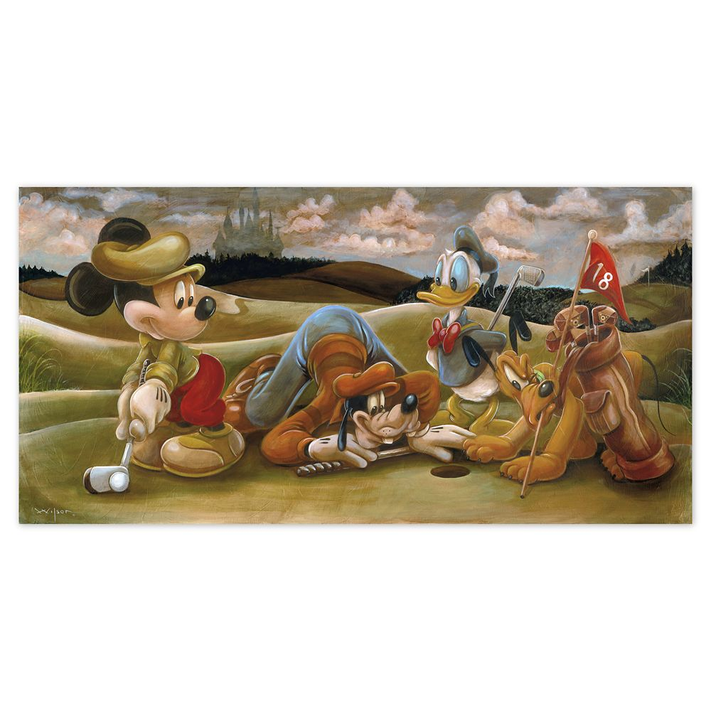 Mickey Mouse and Friends ''On the 18th Green'' Giclée by Darren Wilson Official shopDisney
