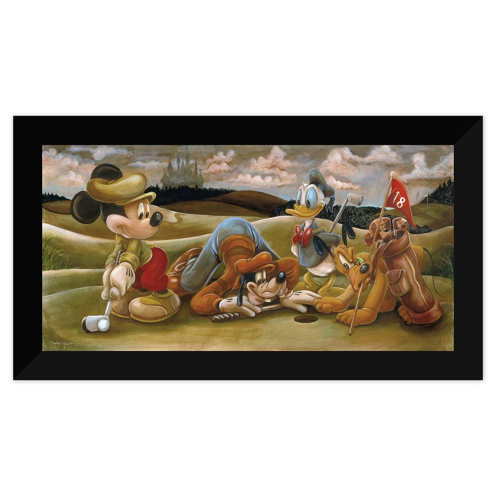 Mickey Mouse and Friends ''On the 18th Green'' Giclée by Darren Wilson