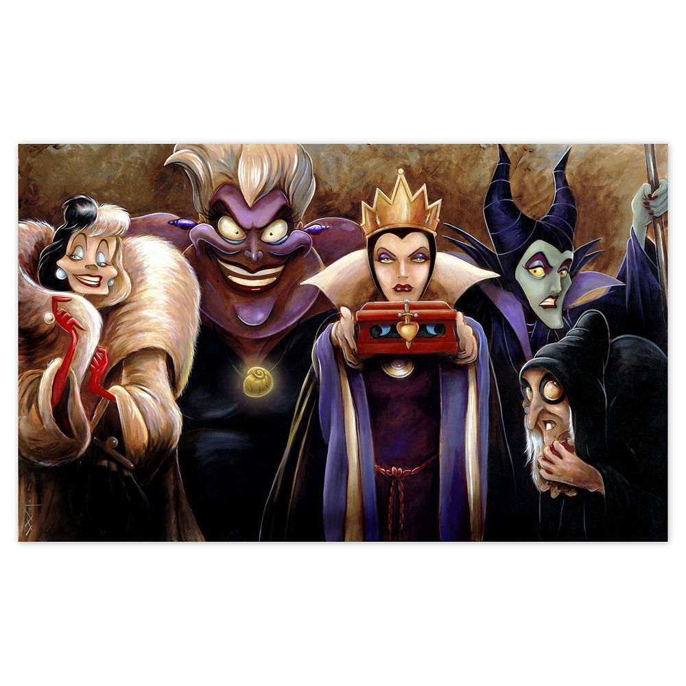 ''Sinister Villains'' Giclée by Darren Wilson Official shopDisney