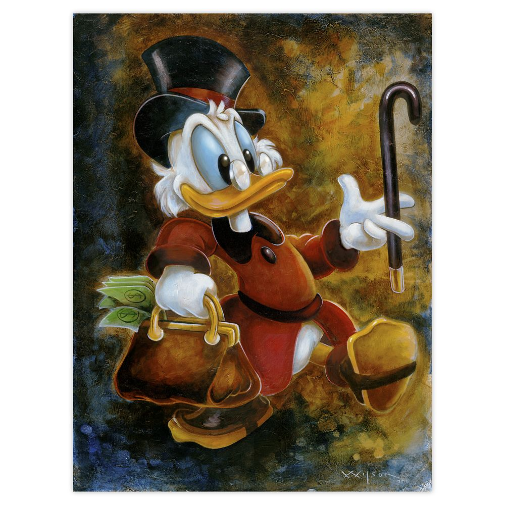 Scrooge McDuck ''Scrooge Treasure'' Giclée by Darren Wilson Official shopDisney