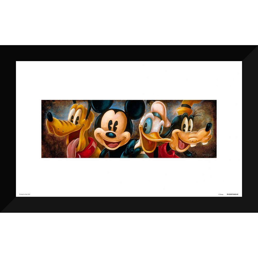 Mickey Mouse and Friends ''Four Characters'' Giclée by Darren Wilson Official shopDisney