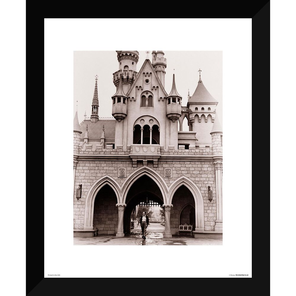 Walt Disney at Sleeping Beauty Castle Giclée