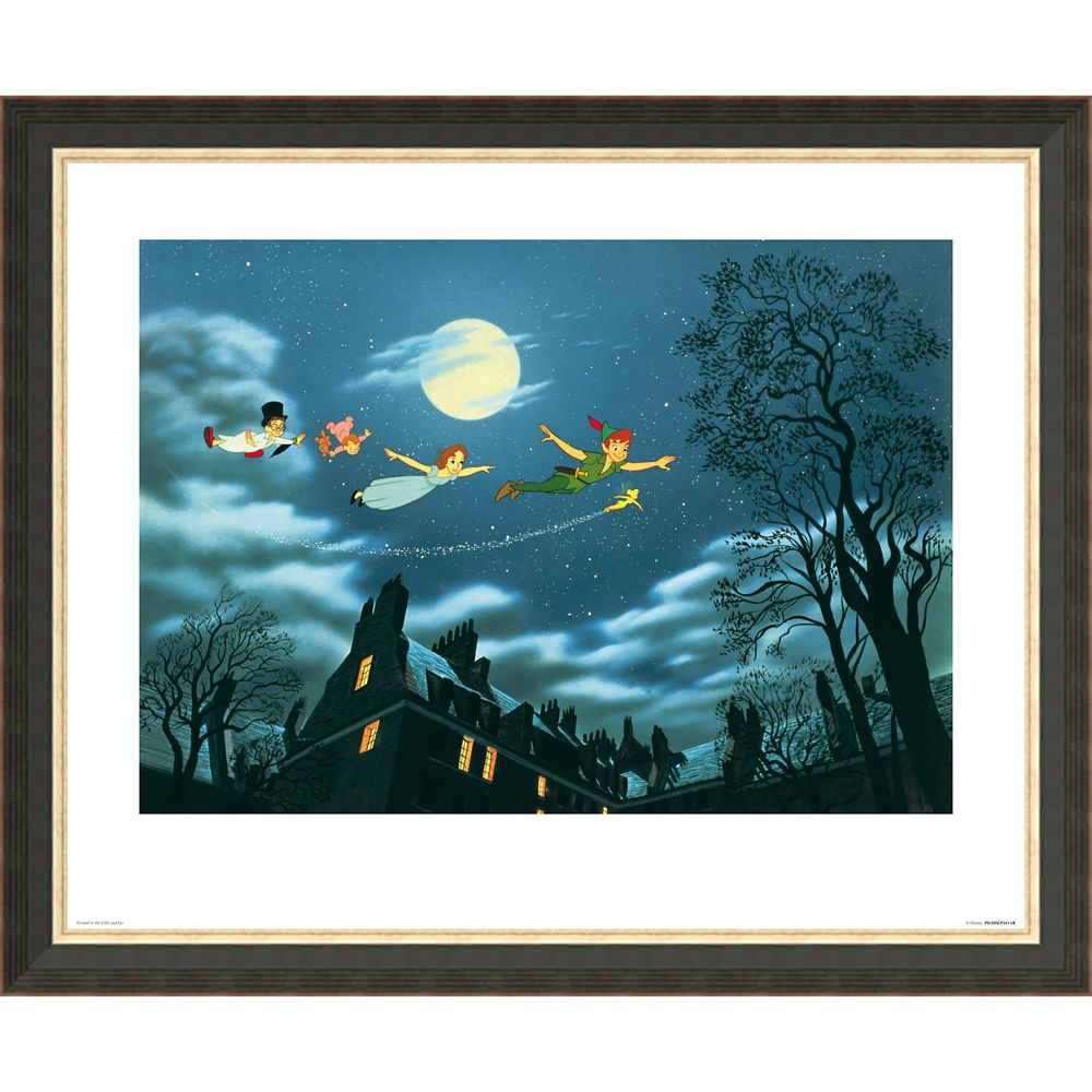 Peter Pan ''And Away They Flew to Never Land'' Giclée