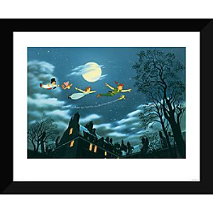 Peter Pan ''And Away They Flew to Never Land'' Giclé