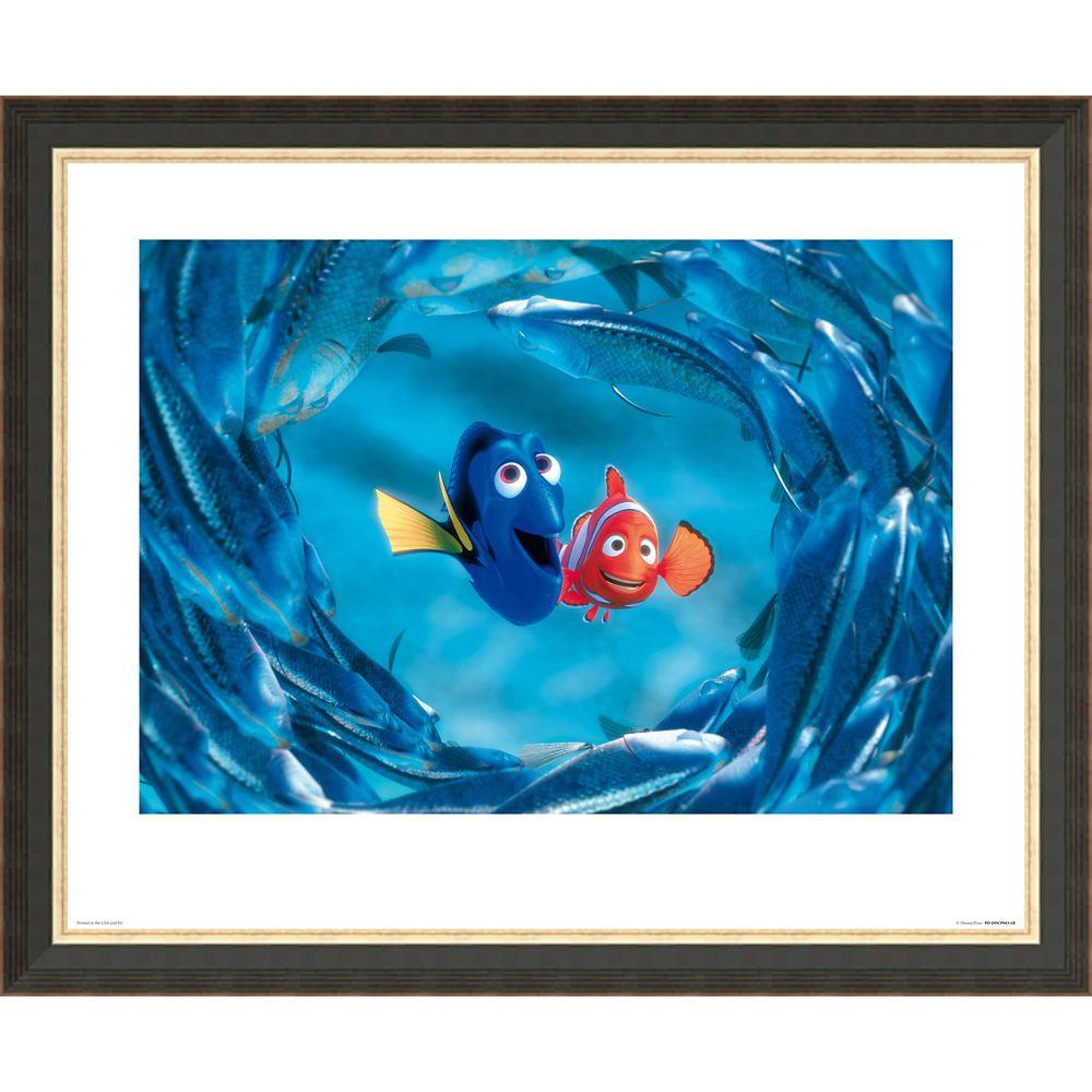 Finding Nemo ''The Moonfish entertain Marlin and Dory'' Giclée