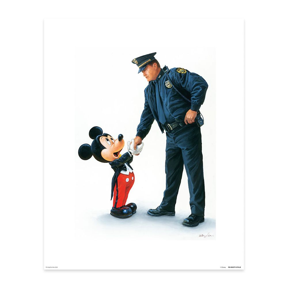 Mickey Mouse ''Mickey and the Policeman'' by William Silvers Official shopDisney